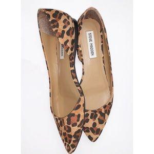 STEVE MADDEN | Elusion Leopard Calf d'Orsay Flat